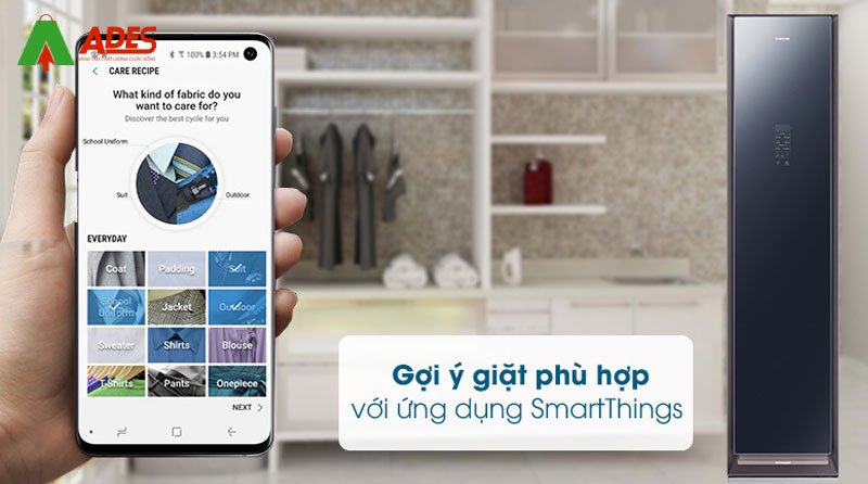 ket noi smartphone ung dung smartthings Samsung DF60R8600CG/SV